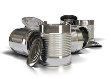 Stagni usati del metallo Fotografia Stock