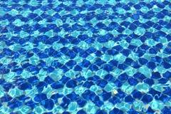 Stagno blu astratto delle tessere Immagini Stock