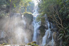 Stagno blu a Kuang Si Waterfalls Immagini Stock Libere da Diritti