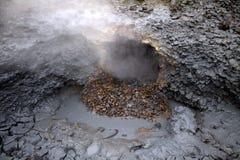 Stagno del fango in Hveragerdi Immagini Stock Libere da Diritti