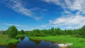 Stagno del fiume di Alajoe Europa orientale Immagine Stock Libera da Diritti