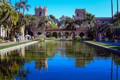 Stagno del giglio nel parco della balboa, San Diego, California Fotografia Stock Libera da Diritti