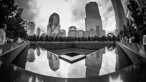 Stagno del memoriale di WTC Fotografie Stock