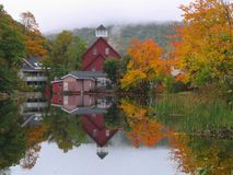 Stagno del New Hampshire fotografia stock