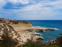 Stagno del ` s di St Peter a Malta immagine stock