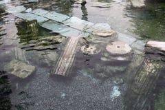 Stagno del termale di Hierapolis Fotografie Stock