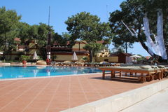 Stagno dell'hotel in Turchia Fotografia Stock