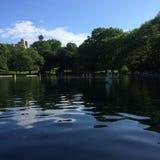 Stagno della barca del Central Park fotografia stock