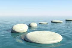 Stagno della roccia di zen Fotografia Stock