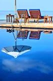 Stagno della spiaggia Fotografia Stock Libera da Diritti
