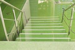 Stagno della stazione termale con le scale fotografia stock libera da diritti