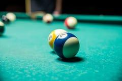 Stagno delle palle da biliardo Fotografia Stock