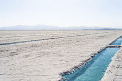Stagno di acqua sulle saline Grandes Jujuy, Argentina Fotografia Stock Libera da Diritti