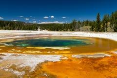 Stagno di bellezza al bacino superiore del geyser Fotografia Stock
