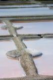 Stagno di evaporazione del sale in Guerande Fotografie Stock Libere da Diritti