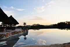 Stagno di infinito, Matobos, Zimbabwe Immagini Stock Libere da Diritti