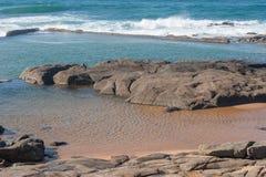 Stagno di marea di Ballito Fotografie Stock