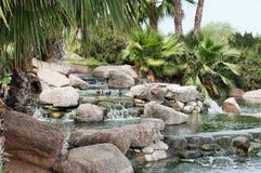 Stagno di pietra da taglio del parco, Gilbert, Arizona Immagini Stock