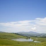 Stagno di Puchin, paesaggio di Altai della montagna Fotografie Stock