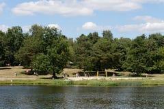 Stagno di Shibaevsky nel ` naturale-storico di Kuzminki-Lublino del ` del parco fotografia stock libera da diritti