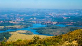 Stagno di Soledade ai piedi della Serbia di bianco dell'oro fotografia stock