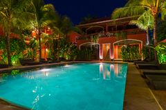 Stagno in hotel sull'isola Bali Indonesia Fotografia Stock