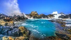 Stagno naturale, isola di Aruba fotografia stock libera da diritti