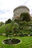Stagno nel parco a Windsor Castle immagini stock