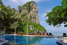 Stagno in spiaggia di Railay, TAILANDIA Fotografia Stock Libera da Diritti