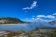 Stagno Yellowstone del turchese Fotografia Stock