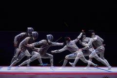Stagnola di recinzione internazionale 2015 di St Petersburg di torneo fotografia stock libera da diritti