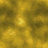 Stagnola dorata struttura di lusso di Tileable e senza cuciture del fondo Fondo brillante dell'oro corrugato festa Fotografie Stock