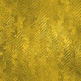 Stagnola dorata struttura di lusso di Tileable e senza cuciture del fondo Fondo brillante dell'oro corrugato festa Fotografia Stock Libera da Diritti