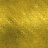 Stagnola dorata struttura di lusso di Tileable e senza cuciture del fondo Fondo brillante dell'oro corrugato festa Immagini Stock