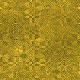 Stagnola dorata struttura di lusso di Tileable e senza cuciture del fondo Fondo brillante dell'oro corrugato festa Fotografie Stock Libere da Diritti