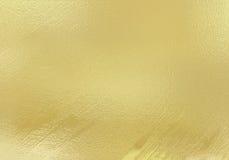 Stagnola metallica dell'oro brillante Fotografia Stock