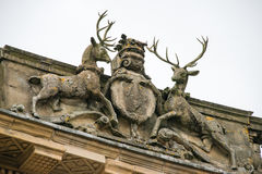 Stags and crest on the Buxton Crescent Royalty Free Stock Photos