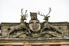 Stags and crest on the Buxton Crescent Stock Photo