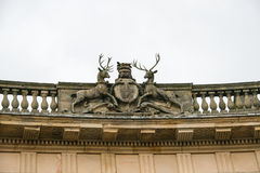 Stags and crest on the Buxton Crescent Royalty Free Stock Photography