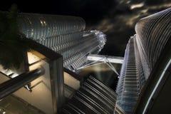 Stahl, Glas und Leuchte Lizenzfreies Stockfoto