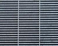 Stahl-Gray Metal Grate für Hintergrund oder Architekturdetail lizenzfreies stockfoto