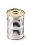 Stahl kann mit Taste Lizenzfreie Stockfotos