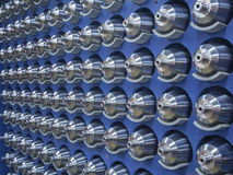 Stahl maschinell bearbeitete Teile Lizenzfreies Stockfoto