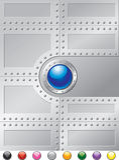 Stahl-Niet-Abdeckung Stockbild