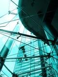 Stahl- und Glasstadt Stockfotos
