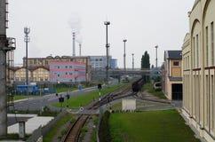 Stahl- und Schwermetallindustriefabrik von Skoda in Pilsen, Tschechische Republik Stockfotografie