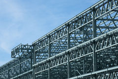 Stahlaufbau-Feld Stockfoto