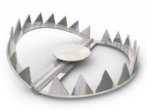 Stahlbärn-Blockierfang-Tier-Opfer-spitze Zähne Stockfoto