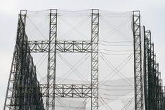 Stahlbau mit Netz Stockfoto