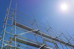 Stahlbaubaugerüst lizenzfreie stockfotos